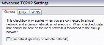 Please clear this box before connecting to VPN from a remote server.